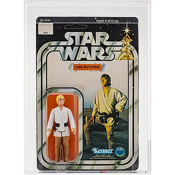 STAR WARS, Luke Skywalker Telescoping Saber, 12 back-c, AFA 80 NM, Kenner 1978.