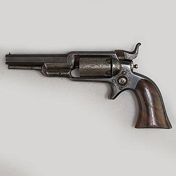 """SLAGLÅSREVOLVER, Colt 1855 Sidehammer Revolver """"Root"""", tillverkad 1856."""
