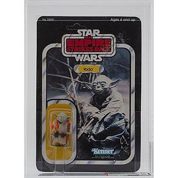 STAR WARS, Yoda, ESB 32 back-b, AFA 80 NM, Kenner 1980.