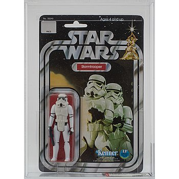 STAR WARS, Stormtrooper, 12 back-a, AFA 80 NM, Kenner 1978.
