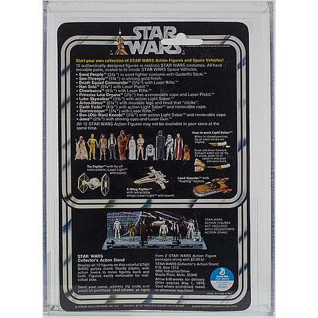 Star wars, stormtrooper, 12 back a, afa 80 nm, kenner 1978