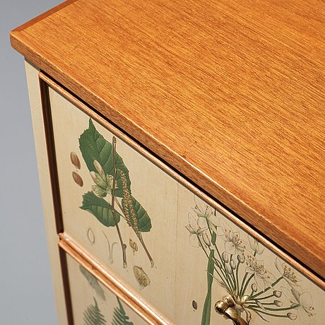 "Josef frank, a chest of drawers/ a sideboard ""flora"", svenskt tenn, sweden, mid 20th century, model 1050."