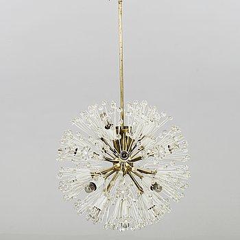 "EMIL STEJNAR, taklampa ""Snowball / Sputnik Pusteblume"", för Rupert Nikoll Wien 1900-talets mitt."