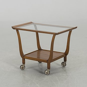 A SERVING TROLLEY MID 20TH CENTURY.