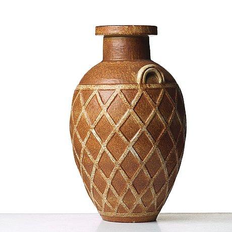 Gunnar nylund, a stoneware floor vase, rörstrand, sweden 1950's.