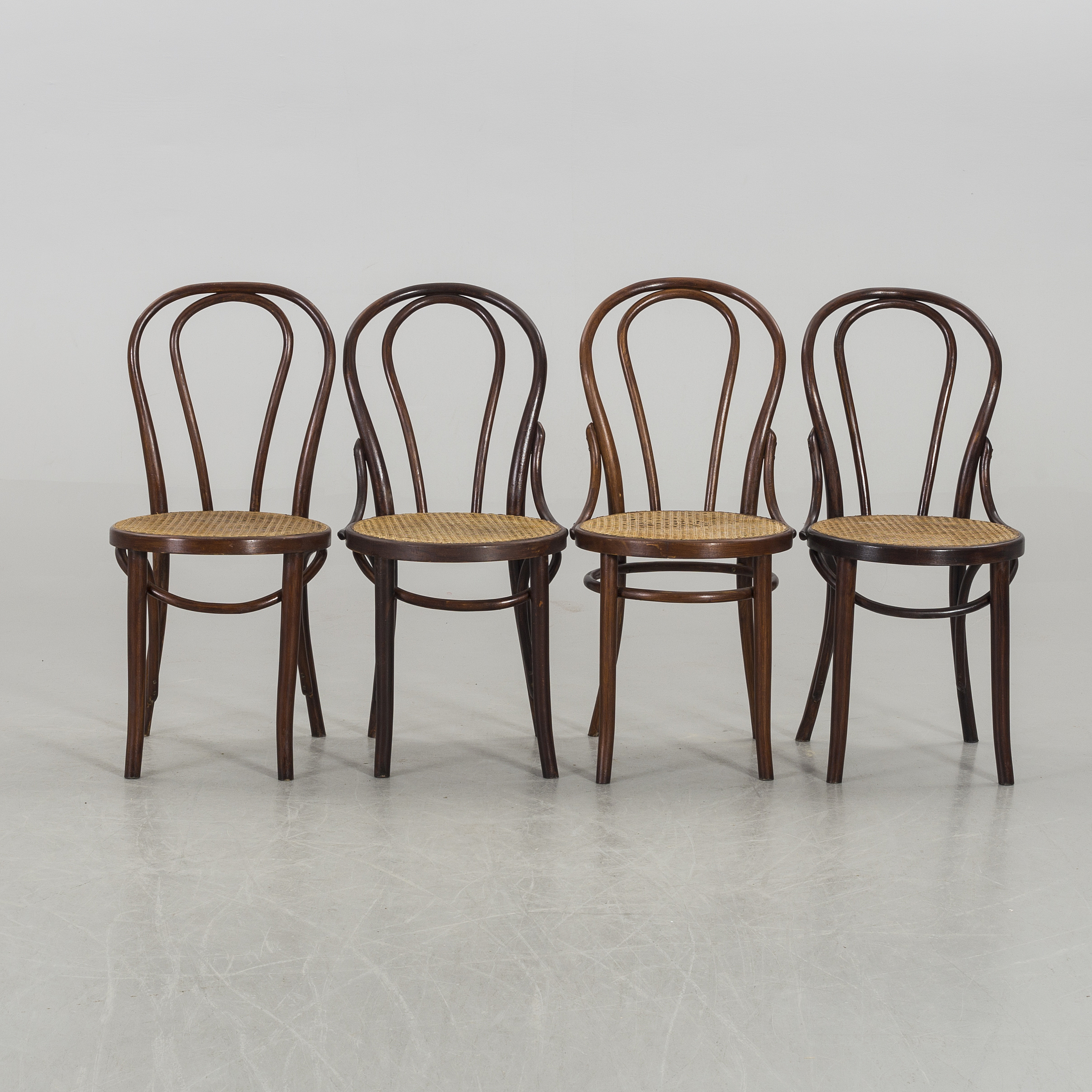 Ten similar Thonet-style chairs, 20th century first half