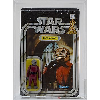 STAR WARS, Snaggletooth, 21 back-a, AFA 85 NM+, Kenner 1979.