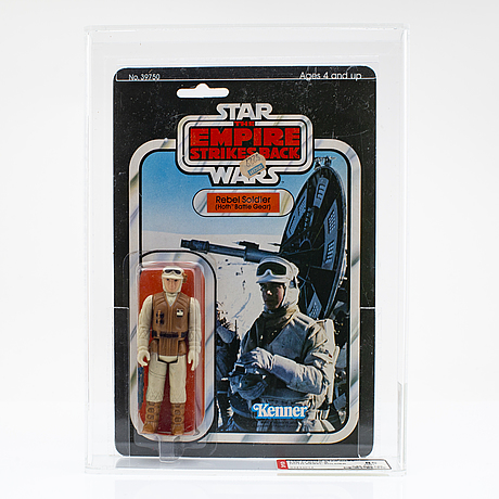Star wars, hoth rebel soldier esb 31 back-b & cloud car pilot esb 47 back, kenner 1980 & 1982.