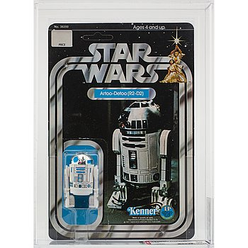 STAR WARS, Artoo-Detoo (R2-D2), 12 back-c, AFA 80 NM, Kenner 1978.