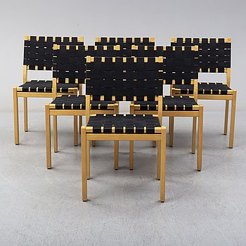 ALVAR AALTO, stolar, sex stycken, modell 611, Artek, Finland, 1900-talets slut.
