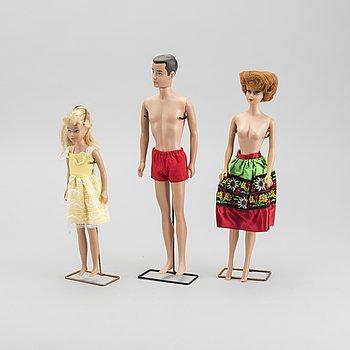 SAMLING MATTEL, Barbie Ken och Skipper samt tillbehör, 1960-tal.