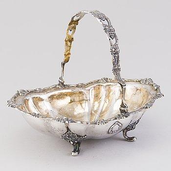 CARL ADOLF SEIPEL, A parcel-gilt silver fruit basket, assay master Alexander N. Mitin 1857.