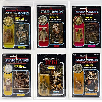 STAR WARS, Wicket W. Warrick, Teebo, Warok, Paploo, Lumat, Romba, POTF & ROTJ, Kenner 1983-1984.