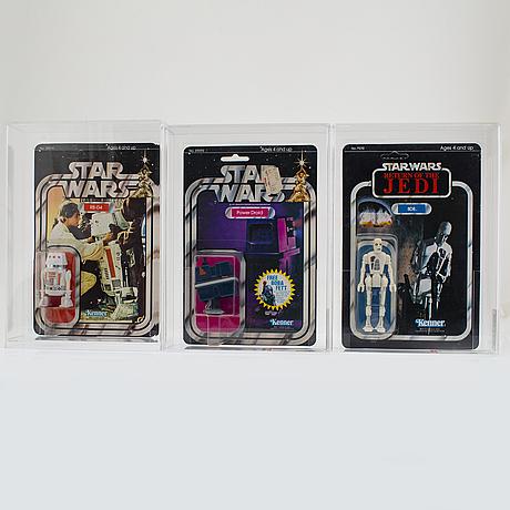 Star wars, r5 d4, power doid & 8d8, kenner 1978 1983