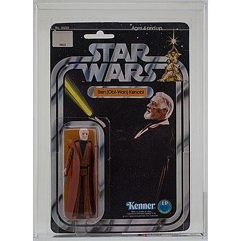 STAR WARS, Ben (Obi-Wan) Kenobi, 12 back-b, AFA 85 NM+, Kenner 1978.