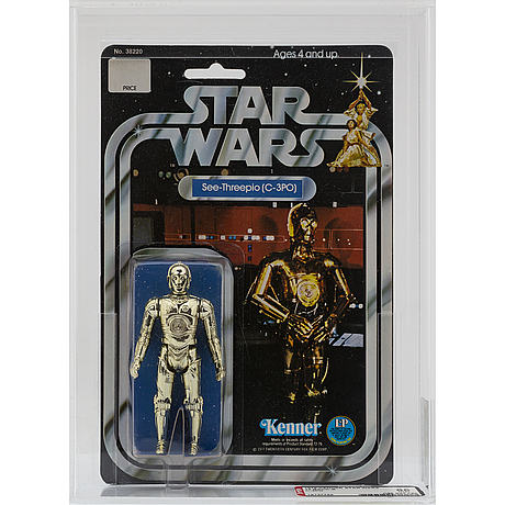 Star wars, see threepio (c 3po), 12 back b, afa 85 nm+, kenner 1978