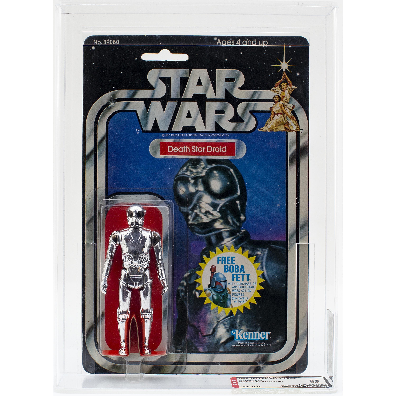 STAR WARS, Death Star Droid, 20 back-g, AFA 85 NM+, Kenner