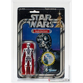 STAR WARS, Death Star Droid, 20 back-g, AFA 85 NM+, Kenner 1978.
