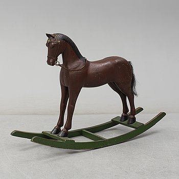 An early 20th century rocking horse.