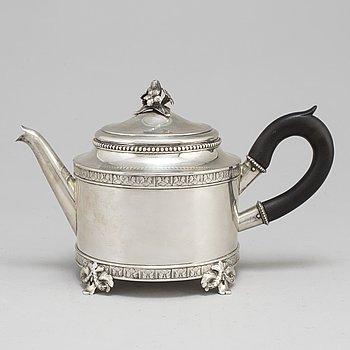 CG HALLBERG, a silver teapot, Stockholm 1906.