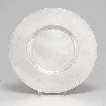 A silver plate, Aterlier Borgila, Stockholm, 1955.