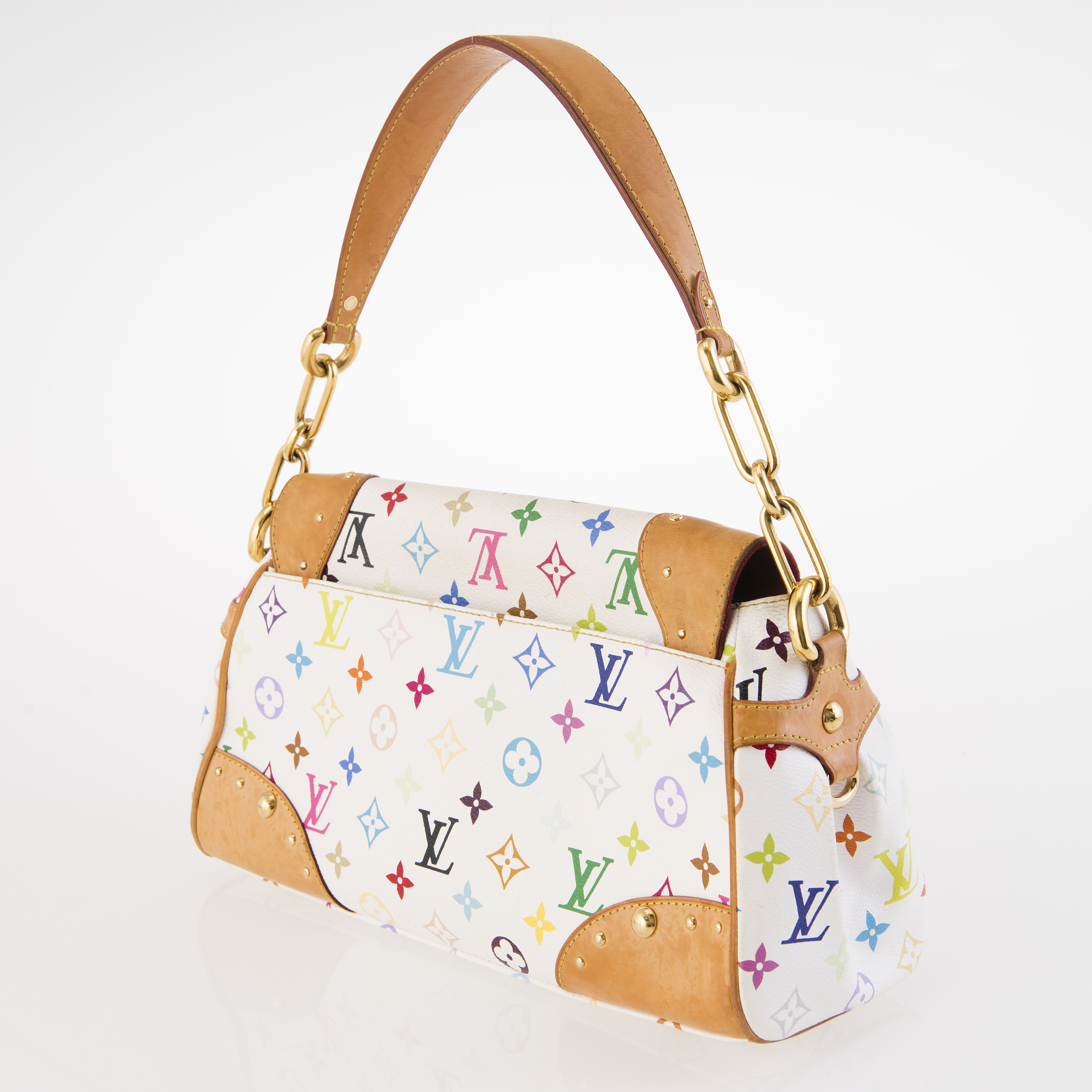 730a3a8e4a0 LOUIS VUITTON White Monogram Multicolor Beverly MM Bag. - Bukowskis