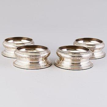 VINCOASTERS, 4 st, silver, P. Hertz, Köpenhamn 1900-talets början/ första hälft.