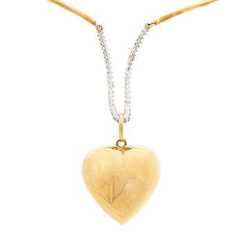 A NECKLACE, brilliant cut diamonds, 18K gold.