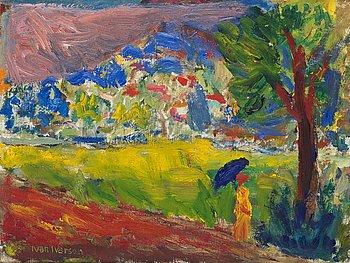 """417. Ivan Ivarson, """"Kvinna med parasoll""""."""