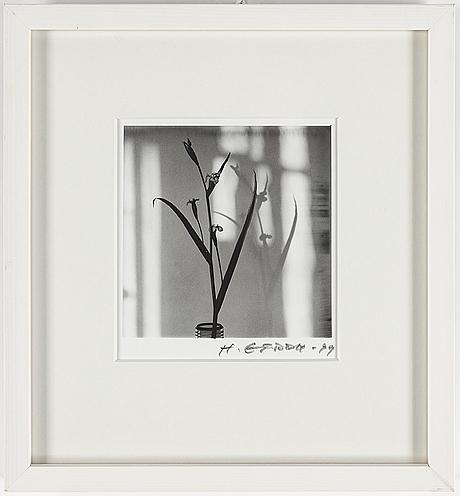 Hans gedda, gelatinsilverfotografi, vintage, signerat och  daterat  99