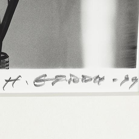 Hans gedda, gelatin silver print, vintage, signed and dated  99