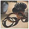 Vivianna torun bülow-hübe, a rattan and brass bangle, executed in her own workshop, 1945-50's.