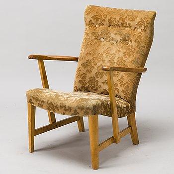 CARL GUSTAF HIORT AF ORNÄS, a 1950s 'Prince' armchair for Puunveisto Oy - Wood work Ltd.