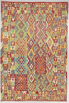 A carpet, Kilim oriental, around 290 x 200 cm.