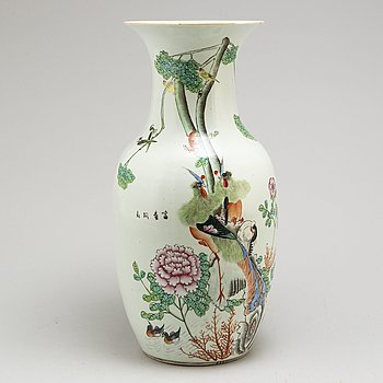 A Chinese famille rose vase, early 20th century.