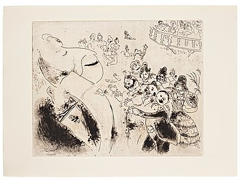 MARC CHAGALL, 71 etchings from the edition of 285 examples on Arches/MBM/J. Perrigot paper, 1923-1948.