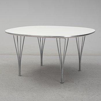 PIET HEIN och BRUNO MATHSSON, 'Superellips', coffee table, for Fritz Hansen, Denmark, 1988.