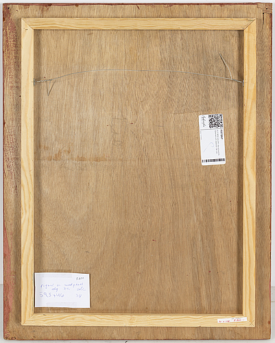Aly ben salem, oil on panel, signed nad dated -38.