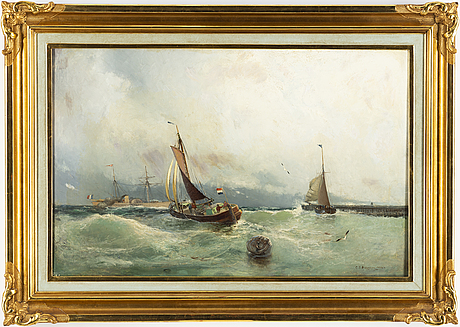 Christian fredrik swensson, oil on canvas, signed and dated 1892