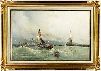 CHRISTIAN FREDRIK SWENSSON, oil on canvas, signed and dated 1892.