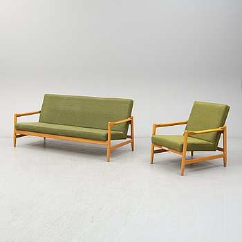 BENGT RUDA, a 'Sarek' easy chair and sofa for IKEA.