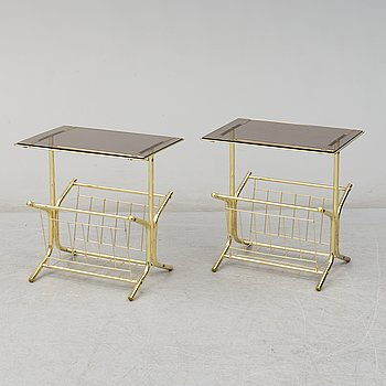 A pair of 1970s/1980s bedside tables.
