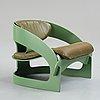 Joe colombo, joe colombo, an easy chair, model 4801 for kartell, italy 1960-70's.