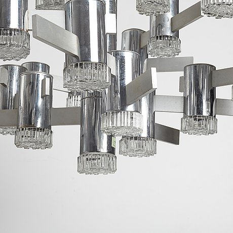 Gaetano sciolari, a ceiling lamp by sciolari lighting, italy 1960-70's.