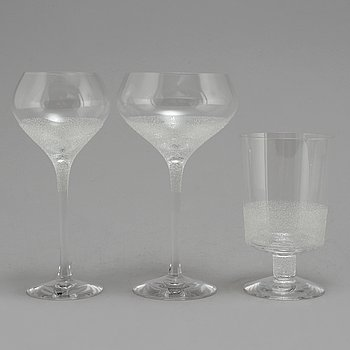 ERIKA LAGERBIELKE, 24 pcs of 'Divine' wine, champagne and water/beer glasses.
