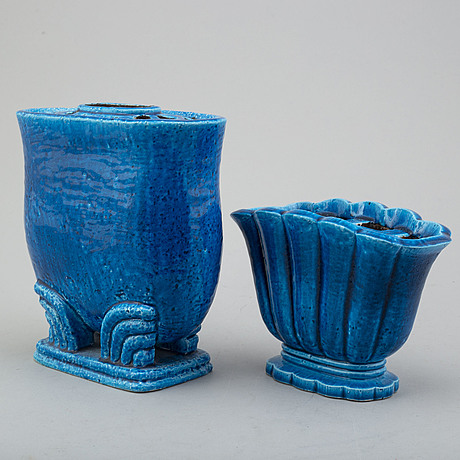 Two mid 20th century stoneware vases by gunnar nylund, rörstrand