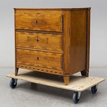 A second half of the 19th century Gustavian style chest of drawers.