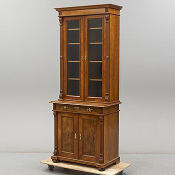 A second half of the 19th Century book cabinet.