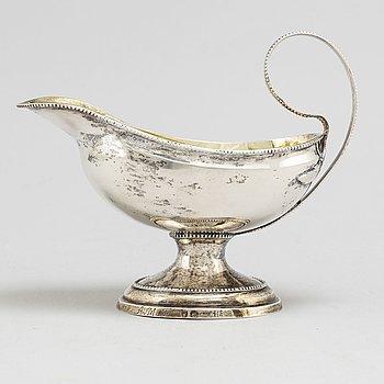 PETER JOHAN ZETTERLING, såskanna, silver, Linköping 1790. Gustaviansk.