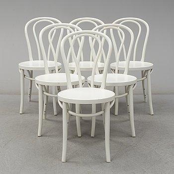 """GILLIS LUNDGREN, stolar 6 stycken, """"Öglan"""", IKEA, formgiven 1961."""